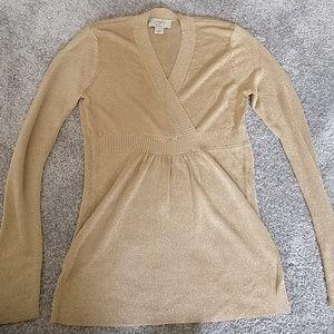 Ann Taylor Loft gold sweater size xs petite